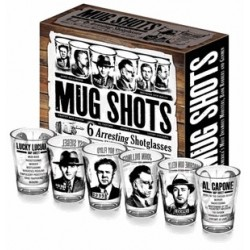 Gadget / Merchandise-Mug Shots 6 Arresting Shotglasses (Shot Glass Set)