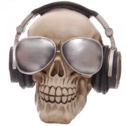 Skull Collection-Teschio con Cuffie e Ochhiali Da Sole Salvadanaio