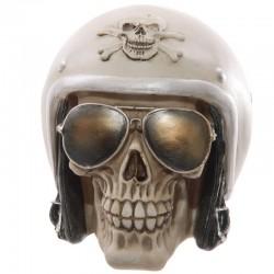 Skull Collection-Teschio con Casco da Motociclista
