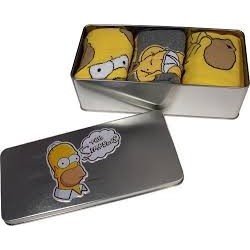 Simpsons-3 Pack Socks In A Tin (3 Paia Di Calze In Scatola In Metallo)